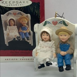 Vintage Hallmark Ornament - Our Little Blessings
